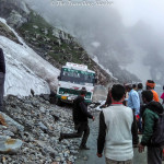 The Sach Pass Shramdaan and hitchhiking on an ambulance
