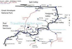 Kinnaur Tourist Map