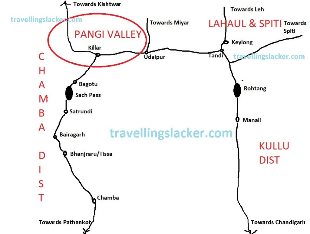 Pangi Valley Route Map