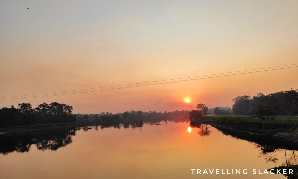 Sunset in Majuli Island